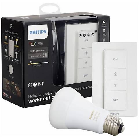 Philips Hue White Light Recipe Kit with LED Light Bulb