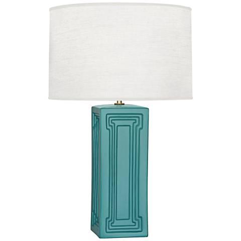 Nottingham Mayo Teal Ceramic Table Lamp