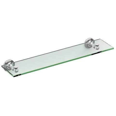 """Gatco Tavern Polished Nickel 20 1/4"""" Wide Glass Shelf"""