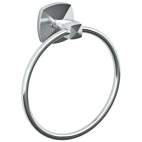 "Gatco Jewel Chrome 7 1/2"" High Towel Ring"