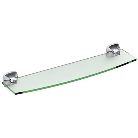 "Gatco Jewel Chrome 20 1/4"" Wide Glass Shelf"