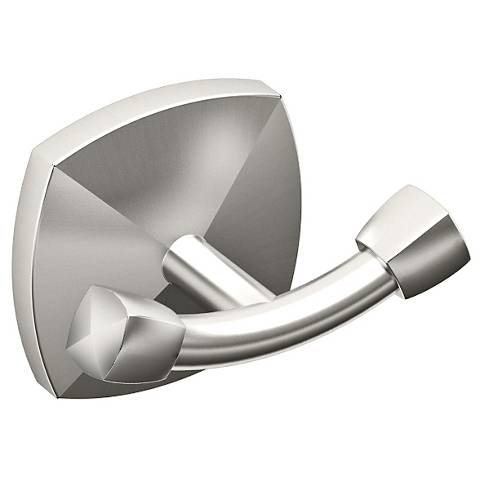 "Gatco Jewel Satin Nickel 3"" Wide Robe Hook"