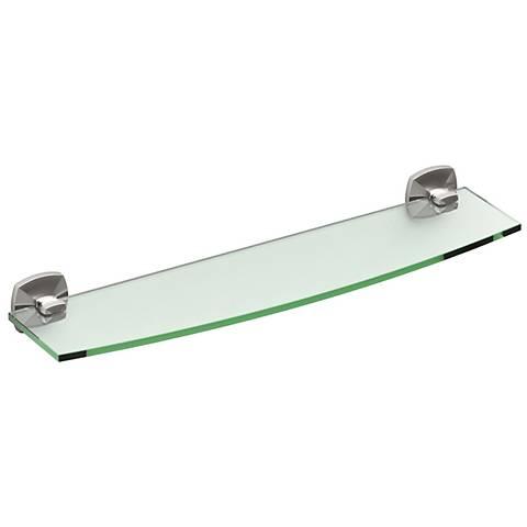 """Gatco Jewel Satin Nickel 20 1/4"""" Wide Glass Shelf"""
