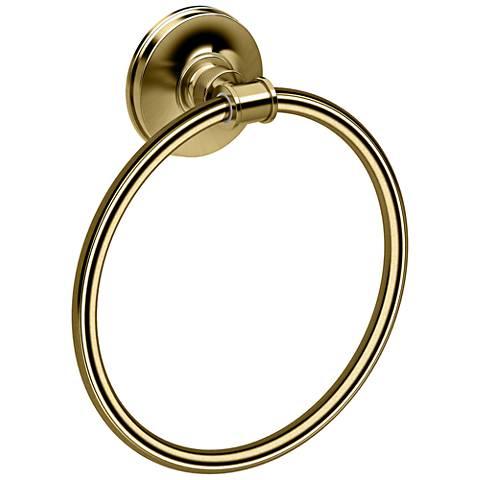 "Gatco Montgomery Matte Brass 7 1/2"" High Towel Ring"