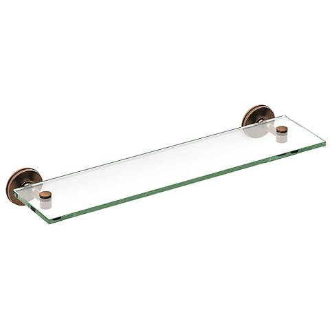 "Gatco Montgomery Bronze 20 1/4"" Wide Glass Shelf"