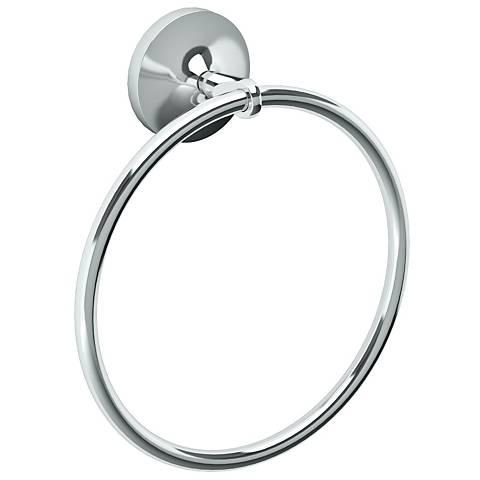 "Gatco Dove Chrome 7 1/2"" High Towel Ring"