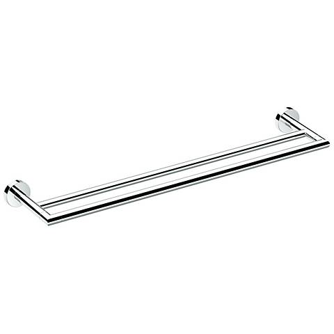 "Gatco Glam Chrome 24"" Wide Double Towel Bar"
