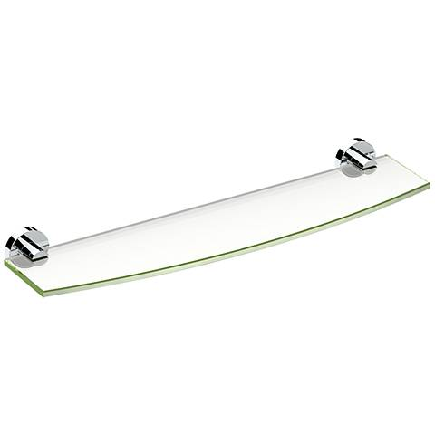 "Gatco Glam Chrome 20 1/4"" Wide Glass Shelf"