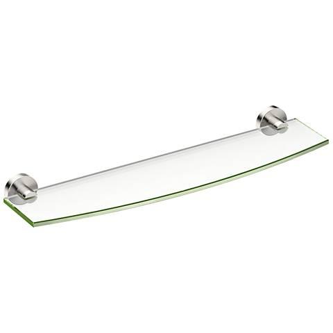 """Gatco Glam Satin Nickel 20 1/4"""" Wide Glass Shelf"""