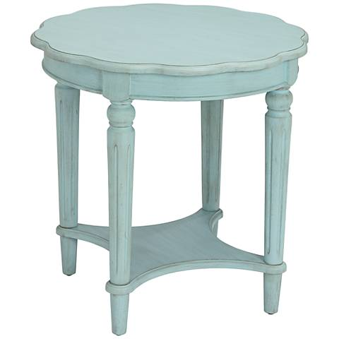 Fordon Antique Green Round End Table