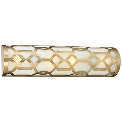 "Crystorama Jennings 24"" Wide Aged Brass LED Bath Light"