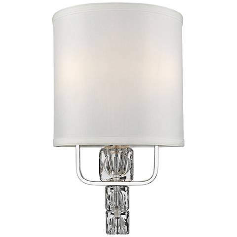 "Crystorama Addison 13""H 2-Light Polished Chrome Wall Sconce"