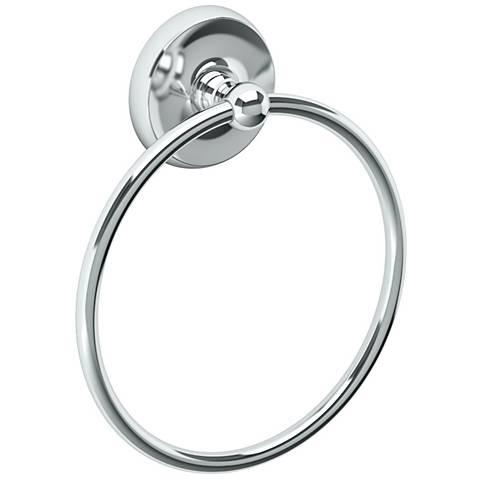 "Gatco Designer II Chrome 7 3/4"" High Towel Ring"