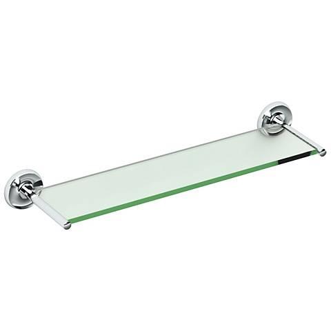 "Gatco Designer II Chrome 22 1/2"" Wide Glass Shelf"
