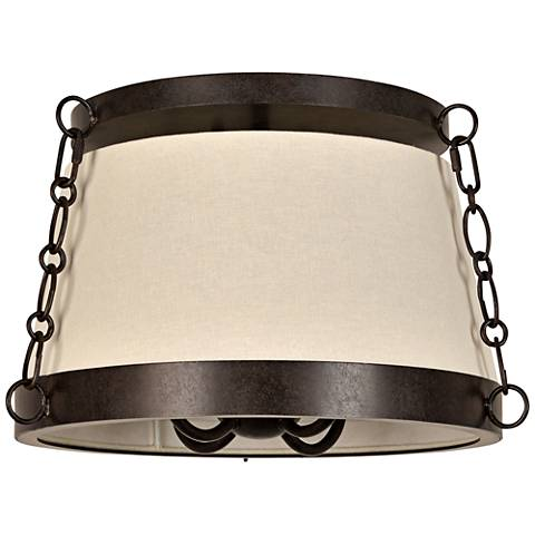 "Crystorama Ellis 16""W Charcoal Bronze Ceiling Light"