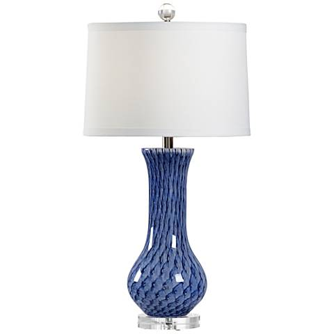 Wildwood Lapis and Clear Glass Table Lamp