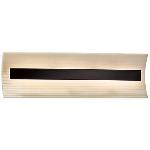 "Porcelina™ Contour 21"" Wide Matte Black LED Bath Light"