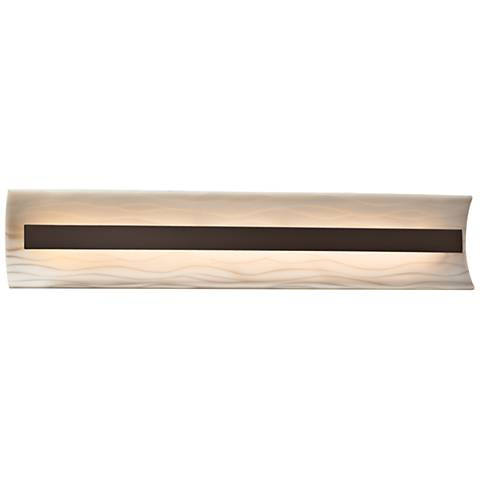 "Porcelina™ Contour 29"" Wide Dark Bronze LED Bath Light"