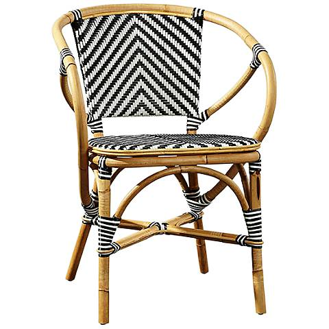 Pearl Natural and Black Bistro Chair