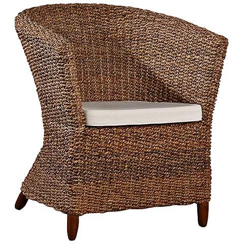 Mandalay Natural Woven Seagrass Club Chair