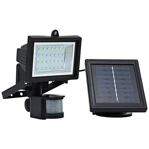 Black LED Motion Security Flood Light