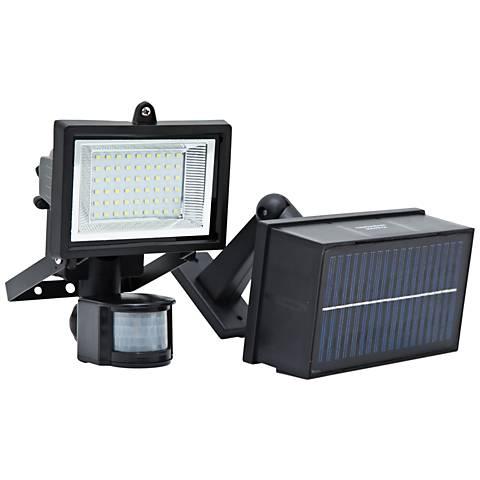 Black LED PIR Motion Sensor Flood Light
