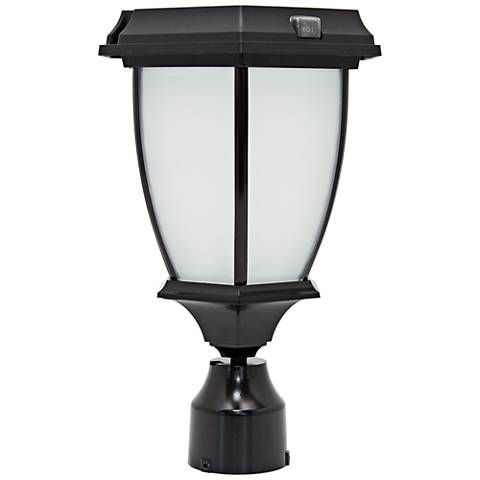 Solar Powered Black Finish LED Outdoor Post Light