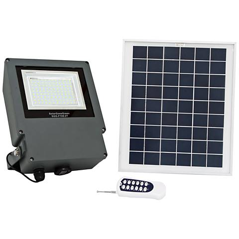 Gray LED Flood Light with Remote Control