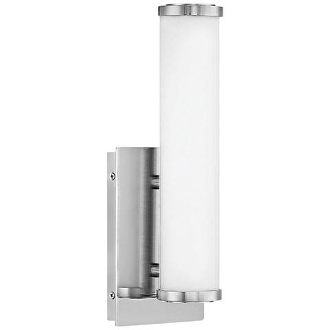 """Hinkley Simi 12 1/2"""" High Brushed Nickel LED Wall Sconce"""