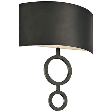 "Sonneman Dianelli 21"" High Rubbed Bronze Wall Sconce"