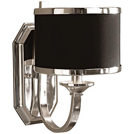 """Uttermost Tuxedo Collection Silver 11 1/2"""" High Sconce"""
