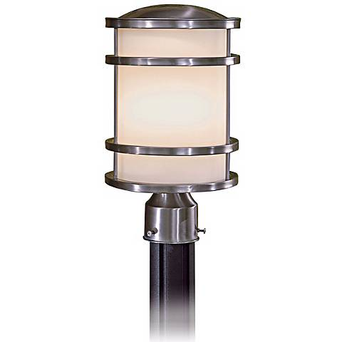 """Bay View Stainless 13 1/2"""" High Stainless Post Light"""