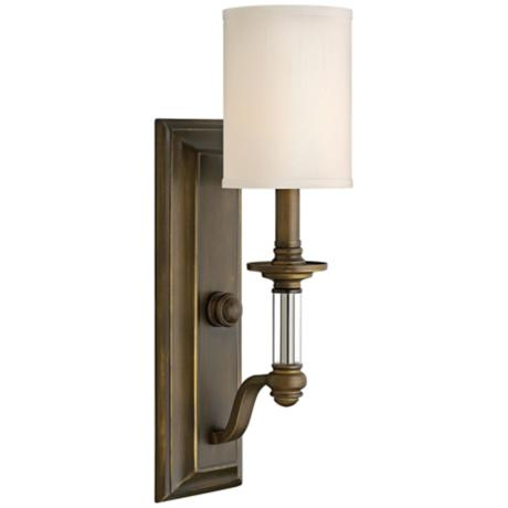 Lamps Plus Bronze Wall Sconce : Hinkley Sussex 17 3/4