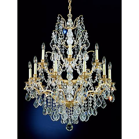 Schonbek Bordeaux 15-Light Large Crystal Chandelier