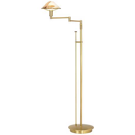 Holtkoetter Alabaster Shade Floor Lamp