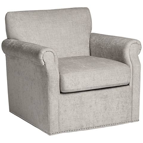 Aldrich Taupe Upholstered Swivel Armchair