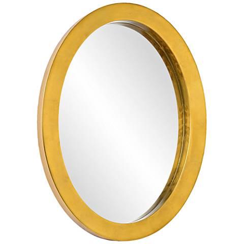 "Ringleader Gold Leaf 19 3/4""x 27 1/2"" Oval Wall Mirror"