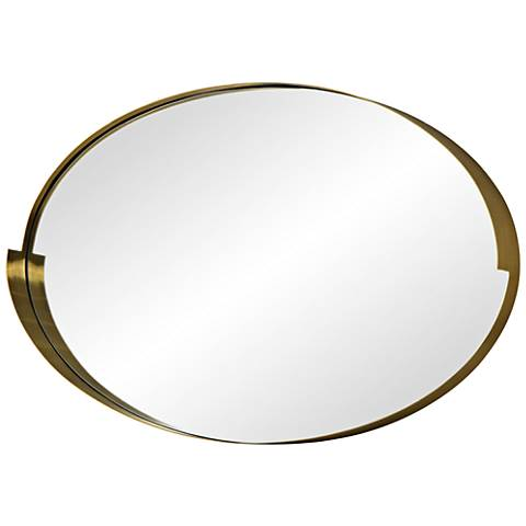 "Varaluz Casa Echo Gold 20"" x 30"" Oval Wall Mirror"