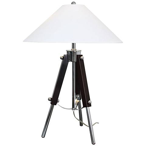 Van Teal Actor Dark Espresso and Chrome Table Lamp