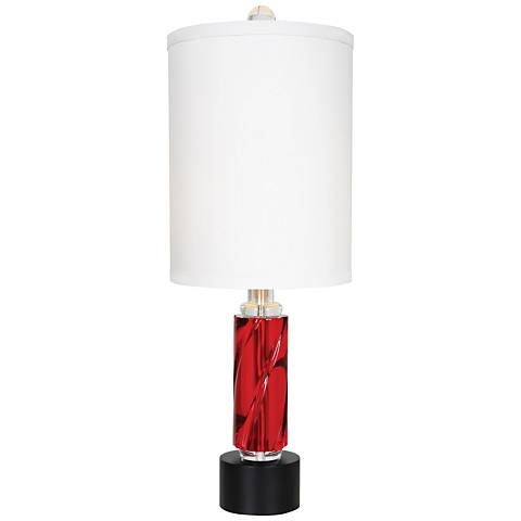 Van Teal Rhapsody Fire Berry Acrylic Table Lamp