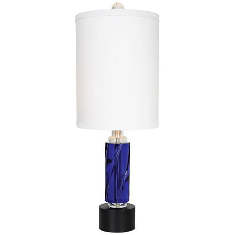 Van Teal Rhapsody Midnight Blue Acrylic Table Lamp