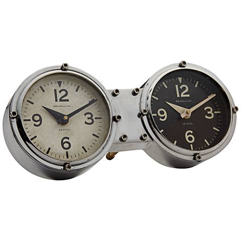 "Dashboard Aluminum 10"" Wide Table or Wall Clock"