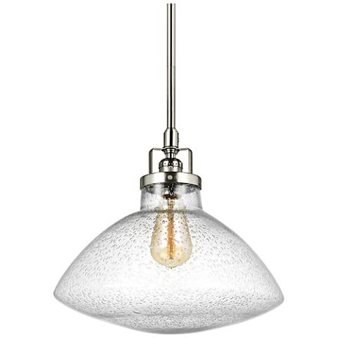 "Belton 12 3/4"" Wide Brushed Nickel Pendant Light"