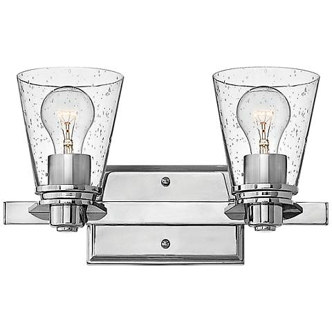 "Hinkley Avon 8"" High 2-Light Chrome Wall Sconce"