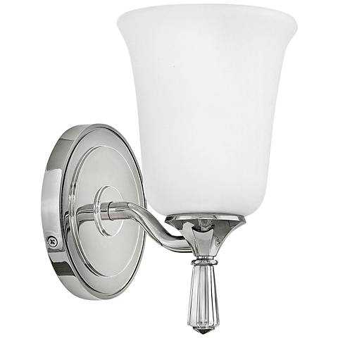 """Hinkley Blythe 8 3/4"""" High Polished Nickel Wall Sconce"""