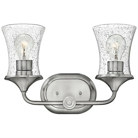 """Thistledown 10 1/2"""" High 2-Light Brushed Nickel Wall Sconce"""