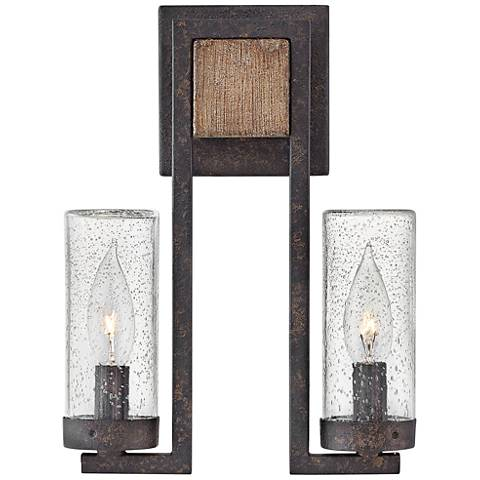 "Hinkley Sawyer 12"" High Sequoia 2-Light Outdoor Wall Light"