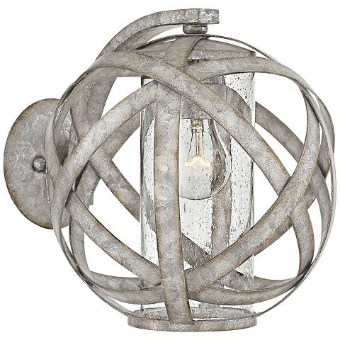 "Hinkley Carson 10 1/2""H Weathered Zinc Outdoor Wall Light"