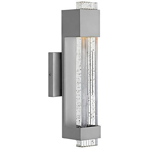 "Hinkley Glacier 15 1/2"" High Titanium LED Outdoor Wall Light"