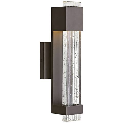 "Hinkley Glacier 15 1/2"" High Bronze LED Outdoor Wall Light"